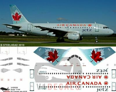 £11.12 • Buy V1 Decals Airbus A319 Air Canada Jetz For 1/144 Revell Model Airplane Kit
