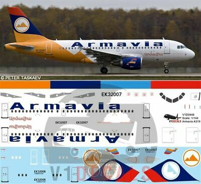 £12.29 • Buy V1 Decals Airbus A319 Armavia For 1/144 Revell Model Airplane Kit V1D0448