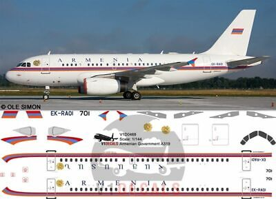£11.12 • Buy V1 Decals Airbus A319 Armenian Government For 1/144 Revell Model Airplane Kit