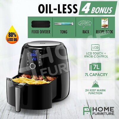 AU109.79 • Buy Maxkon 7L Air Fryer Healthy Cooker Electric Oven Deep Fryer Low Oil Rapid 1800W