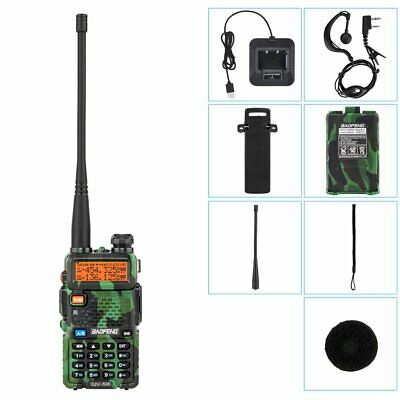 Baofeng UV-5R VHF/UHF Dual-Band USB Two Way Ham Radio Walkie-Talkie Earphone UK • 20.69£