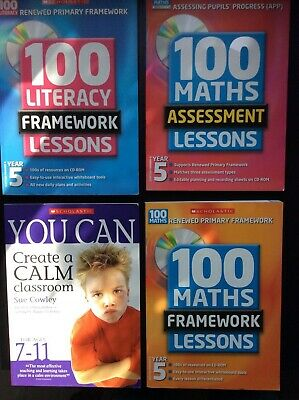 Home Schooling YEAR 5 Primary Scottish 100 Literacy,Maths,BOOK  CD-ROM Lessons C • 19.99£