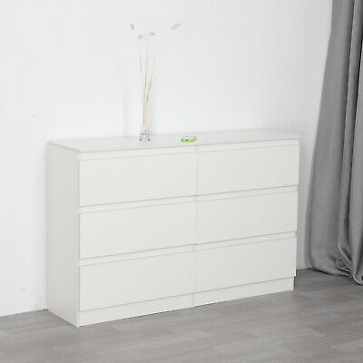 Chest Of Drawers White Bedroom Furniture Hallway Tall Wide Storage UK • 99.99£