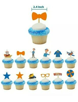 £3.99 • Buy Blippi Kids Birthday Party Supplies Tableware Decorations Cake Toppers Flags X12