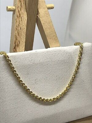 £205 • Buy 9ct 375 Hallmarked Solid Yellow Gold 3mm Rope Chain Necklace Brand New ALL SIZE