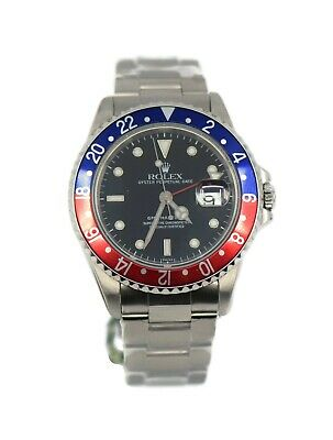 $ CDN14529.35 • Buy Rolex GMT-Master II Pepsi Stainless Steel Watch 16710