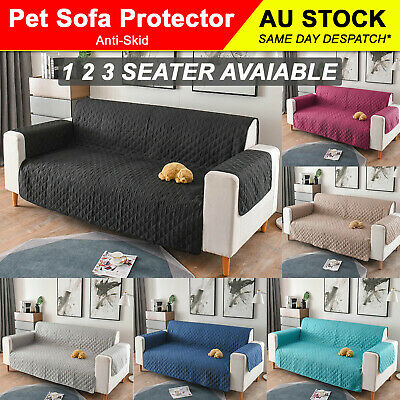 AU26.99 • Buy 2020 1/2/3 Seater Pet Sofa Protector Cover Quilted Couch Covers Lounge Slipcover