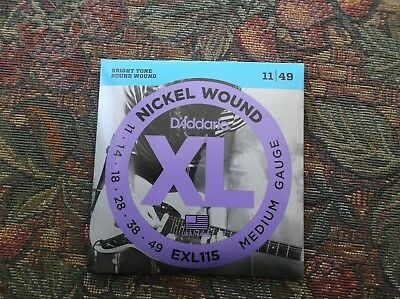 $ CDN8.75 • Buy (01) Set D Addario Medium Gauge Electric Guitar Strings11-49 EXL115