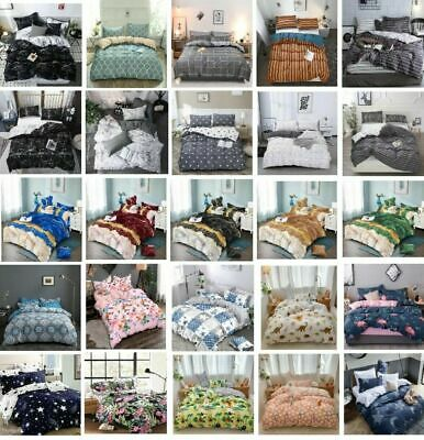 AU32.90 • Buy Doona Duvet Quilt Cover Set With 2 Pillow Case Double Queen King Size