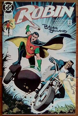 Robin 3, Cover Signed By Brian Bolland, Dc Comics, March 1991, Vf- • 4.99£