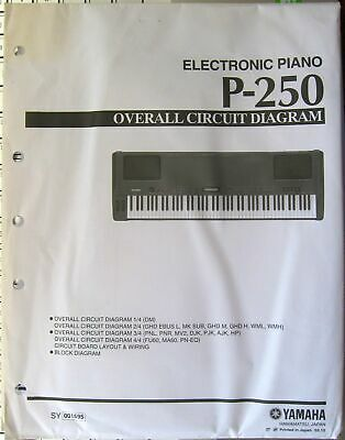 AU56.59 • Buy Yamaha P-250 Digital Electronic Piano Original Overall Circuit Diagram Sheets