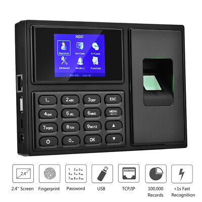 2.4in Biometric Fingerprint Password Recognition Attendence Machine Time Clock • 43.06£