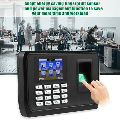 2.4in TFT LCD Biometric Fingerprint Password Attendence Machine Time Clock USB • 35.89£