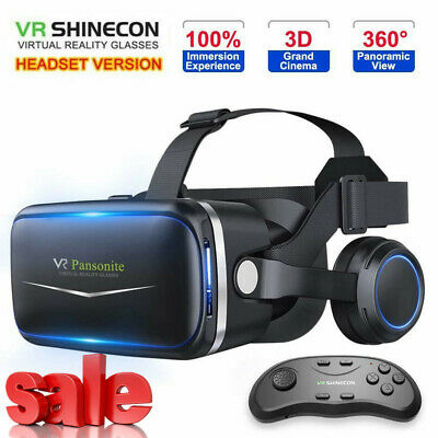 AU39.93 • Buy Pansonite VR Headset With Remote Controller 3D Glasses Virtual Reality Headset G