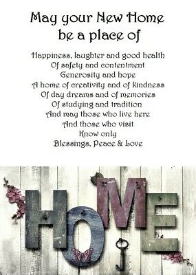 £3.99 • Buy Welcome To Your New Home A5 Card - New Home House Love Keepsake