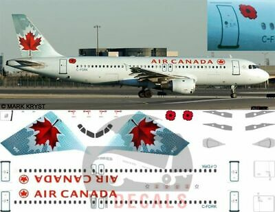 V1 Decals Airbus A320 Air Canada For 1/144 Revell Model Airplane Kit V1D0165 • 10.74£