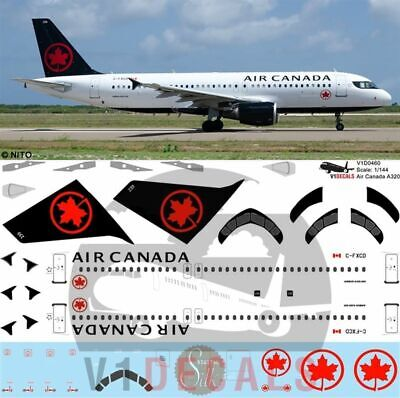 V1 Decals Airbus A320 Air Canada For 1/144 Revell Model Airplane Kit V1D0460 • 11.88£