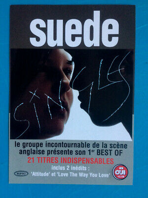 Suede - Singles (best Of). RARE French Album Promo Hand Flyer. • 3.99£