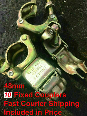 10 X NEW Scaffolding Scaffold Fittings FIXED DOUBLE Couplers Clamp FREE DELIVERY • 24.99£