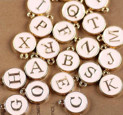 £1.19 • Buy Pink & Gold Alphabet Letter Charm Personalised Name Bracelet Jewellery Making