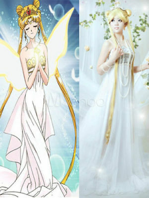 £19.59 • Buy Cosplay Sailor Moon Mix Golden Long Synthetic Wig
