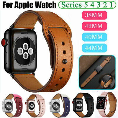 $ CDN9.07 • Buy Genuine Leather Band Strap For Apple Watch SE Series 6 5 4 3 2 1 38/42/40/44mm