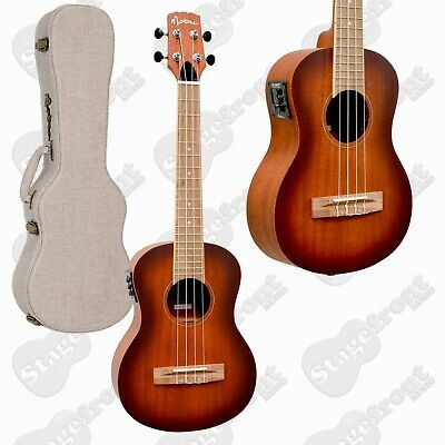 AU259 • Buy Martinez Solid Top Acoustic-electric Concert Ukulele With Hard Case *brand New*