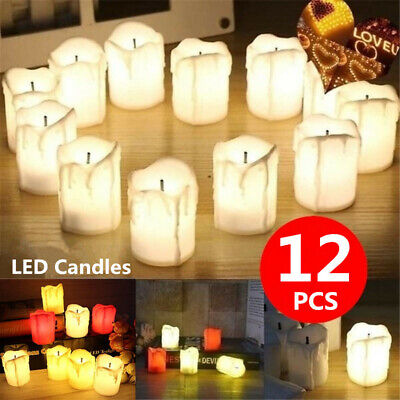 12X LED Flameless Candle Romantic Electronic Candle Halloween Christmas Decora • 6.79£
