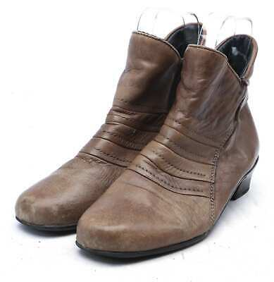 Pavers Womens EU Size 41 Brown Leather Ankle Boots • 12£