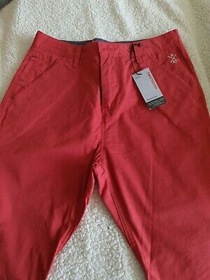 Next Boys Twisted Fit Coral Chino Age 13 Adjustable Waist • 4.90£