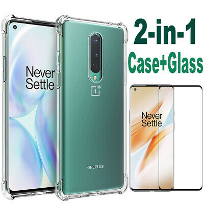 AU5.01 • Buy Case + Tempered Glass For OnePlus 8 7T 7 Pro 6 6T 5 5T Silicone Cover Shockproof