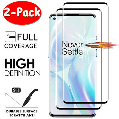 AU5.14 • Buy For OnePlus 8 7T Pro 6T 6 5T 5 3T 2X Full Cover Tempered Glass Screen Protector
