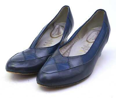 Equity Womens UK Size 5 Blue Leather Shoes • 10£