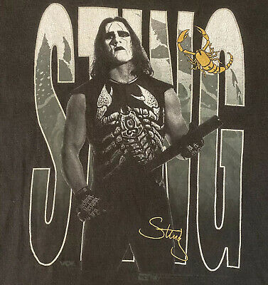 $ CDN150.38 • Buy Vintage 90s Sting WCW NWO Portrait T-Shirt Tee XL Tultex Tag Black Wrestling