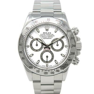 $ CDN31048.50 • Buy Rolex Men's Cosmograph Daytona Stainless Steel 116520 Wristwatch - White Dial