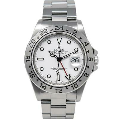 $ CDN12204.04 • Buy Rolex Explorer II Stainless Steel 16570 Watch - White  Polar  Dial