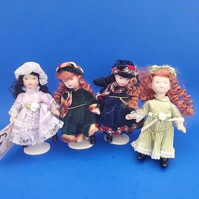 $ CDN32.14 • Buy Lot Of 4 Porcelain Doll Limited Edition Collectible With Stand