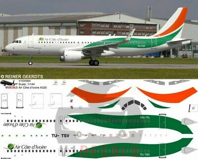 V1 Decals Airbus A320 Air Côte D'Ivoire For 1/144 Revell Model Airplane Kit • 10.74£