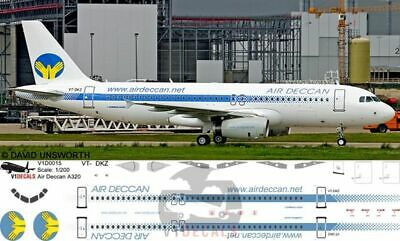 V1 Decals Airbus A320 Air Deccan For 1/144 Revell Model Airplane Kit V1D0015 • 10.74£