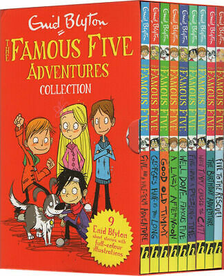 Famous Five Adventures Collection By Enid Blyton Classic Stories 9 Books Box Set • 17.49£