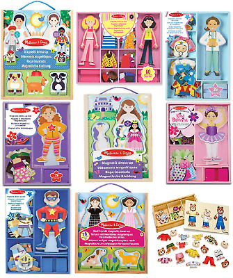 Dress-up Play Set Melissa & Doug Magnetic Wooden Pretend Puzzle  • 14.95£