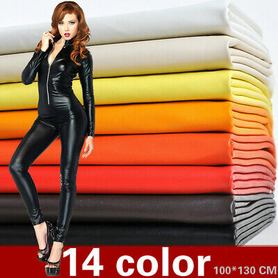 Faux Leather Fabric Soft Stretch PU Sewing Material Waterproof For Costume Trim • 18.14£