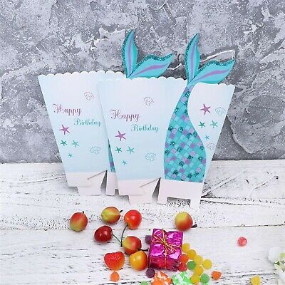 Magical Mermaid Happy Birthday Party Popcorn Favour Boxes UK Seller • 3.99£