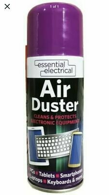 200ml Compressed Air Duster Spray Can Cleans Protects Laptops Keyboards • 5.19£