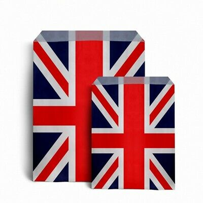 £2.99 • Buy Union Jack Design Sweet Paper Bags - Wedding Gift Patriotic Party Bags 2 SIZES