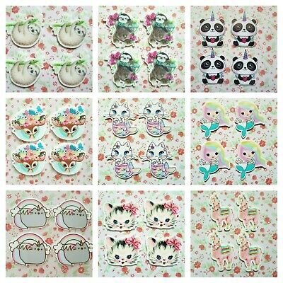 *Many Design* ANIMAL Flatback Planar Resin Cabochon Embellishment Craft Decoden • 2.50£
