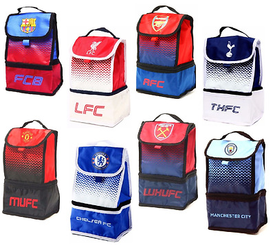 Football Club Lunch Bag School Office Insulated Fade Lunch Bag Box Case  • 12.40£