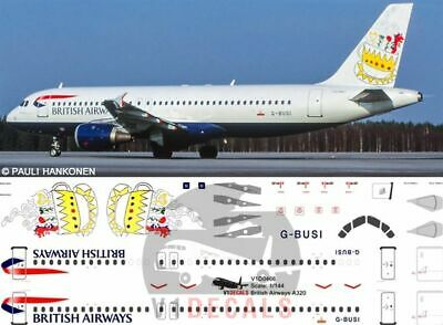 V1 Decals Airbus A320 British Airways For 1/144 Revell Model Airplane Kit  • 10.74£