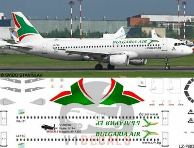 V1 Decals Airbus A320 Bulgaria Air For 1/144 Revell Model Airplane Kit V1D0016 • 10.74£