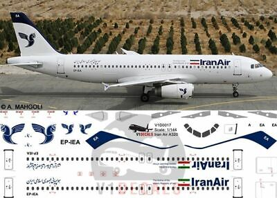 V1 Decals Airbus A320 Iran Air For 1/144 Revell Model Airplane Kit V1D0017 • 10.74£